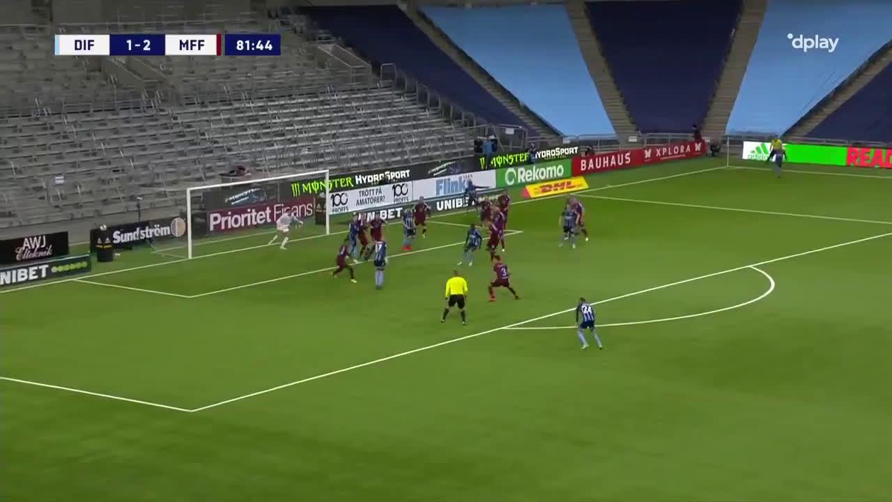 Djurgårdens IF [2]-2 Malmö FF - Kalle Holmberg 82'