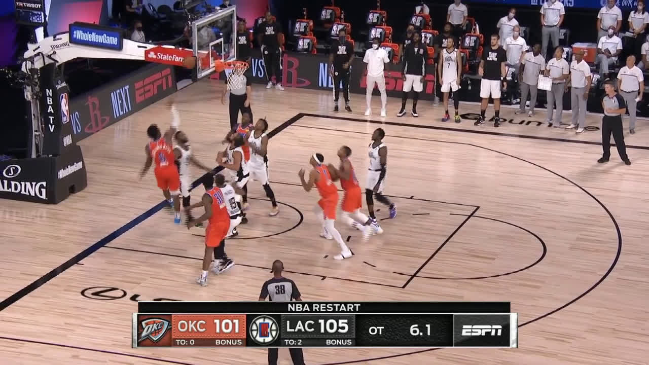[Highlight] Diallo gets the putback to cut the lead to 2 with 5 seconds left