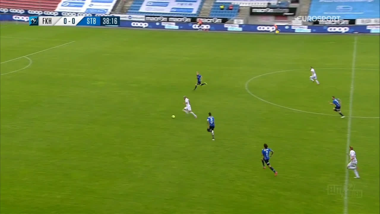 Haugesund 1-0 Stabæk - Kristoffer Velde 39'