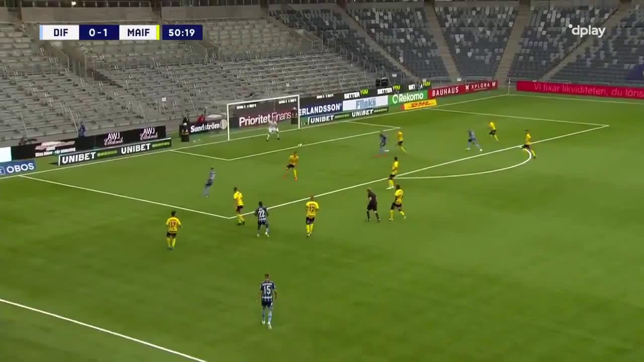 Djurgårdens IF [1]-1 Mjällby AIF - Emir Kujovic 51'