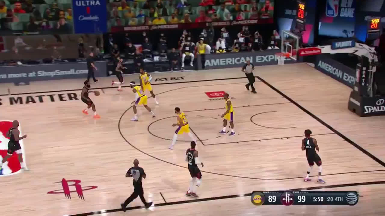 [Highlight] Harden with the steal and the stepback three to put the Rockets up by 13