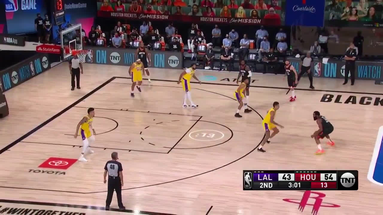[Highlight] Three incredible finishes from Harden vs. the Lakers