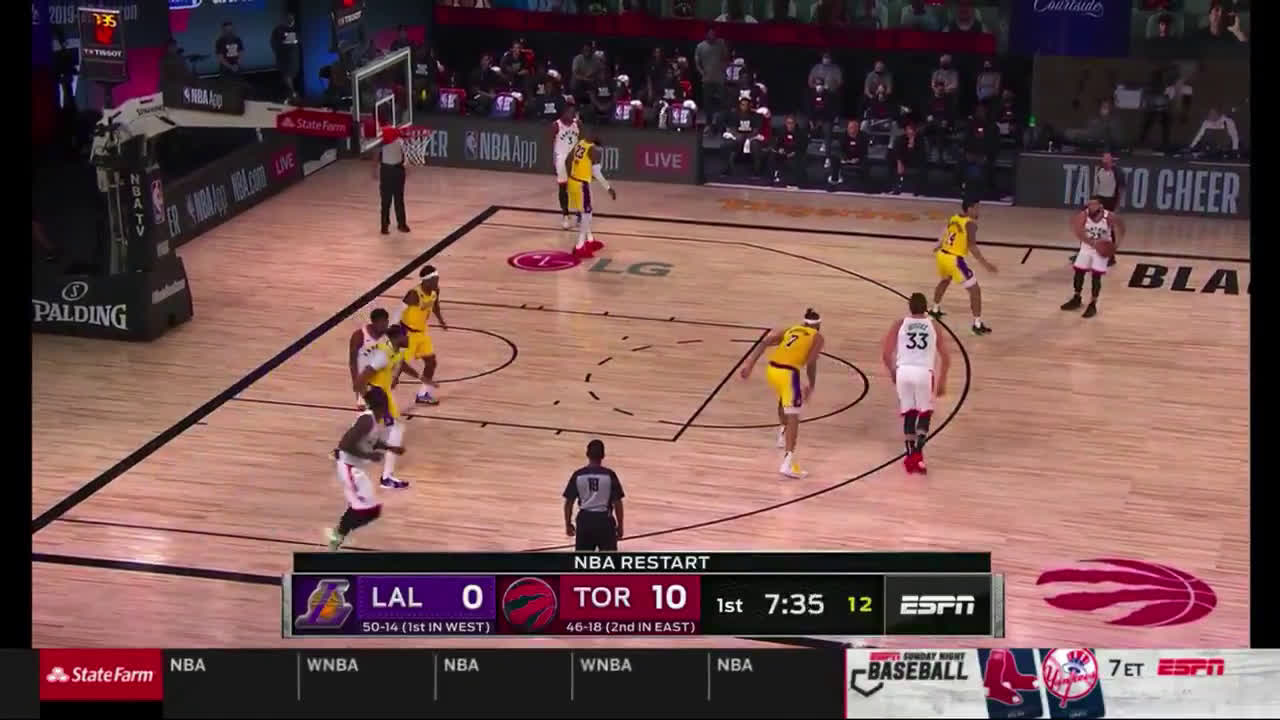 [Highlight] Raptors beautiful ball movement leads to an OG3