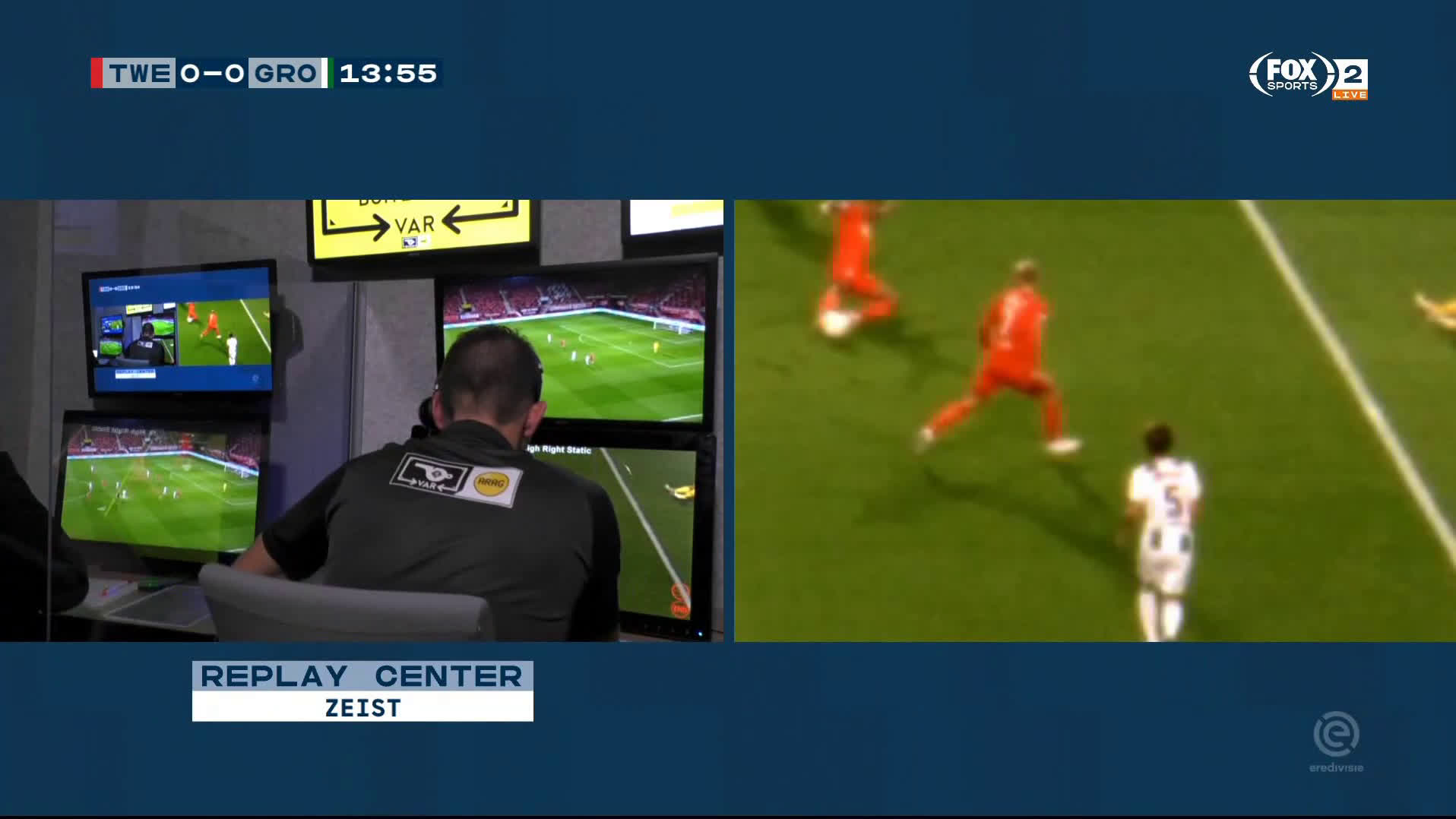 FC Twente vs FC Groningen | VAR takes 5 minutes just to make the wrong decision (look comment)