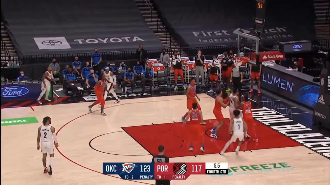 [Highlight] Lillard cuts the Thunder lead to 3