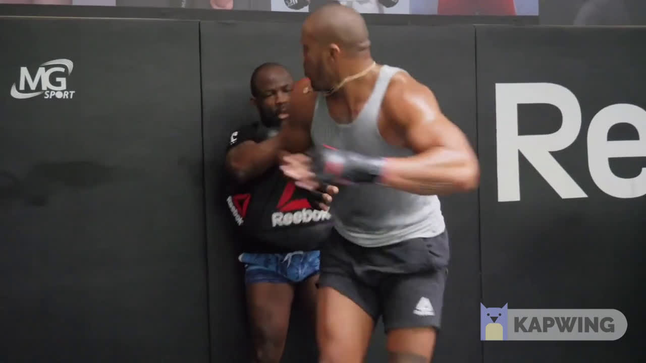 UFC HW prospect Ciryl Gane showing some of his hand speed and GNP in training prior to his now-cancelled bout on Fight Island. UFC currently working on a fight against JDS
