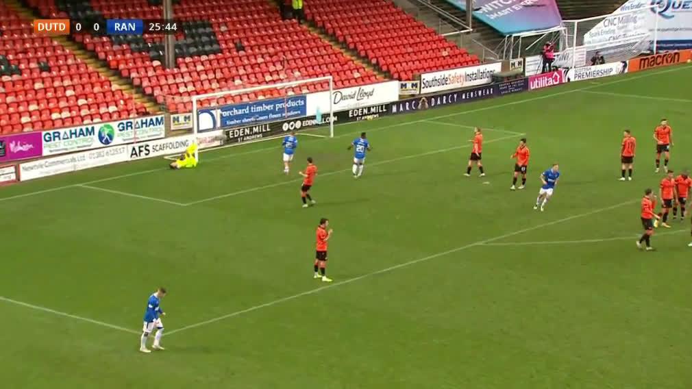 Dundee Utd 0-[1] Rangers - Tavernier 26'