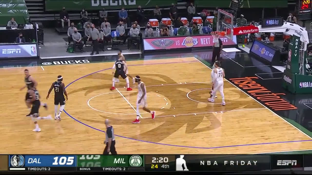 [Highlight] Middleton drills a couple of clutch threes in James Johnson's face to turn a 2-point deficit into a 4-point lead
