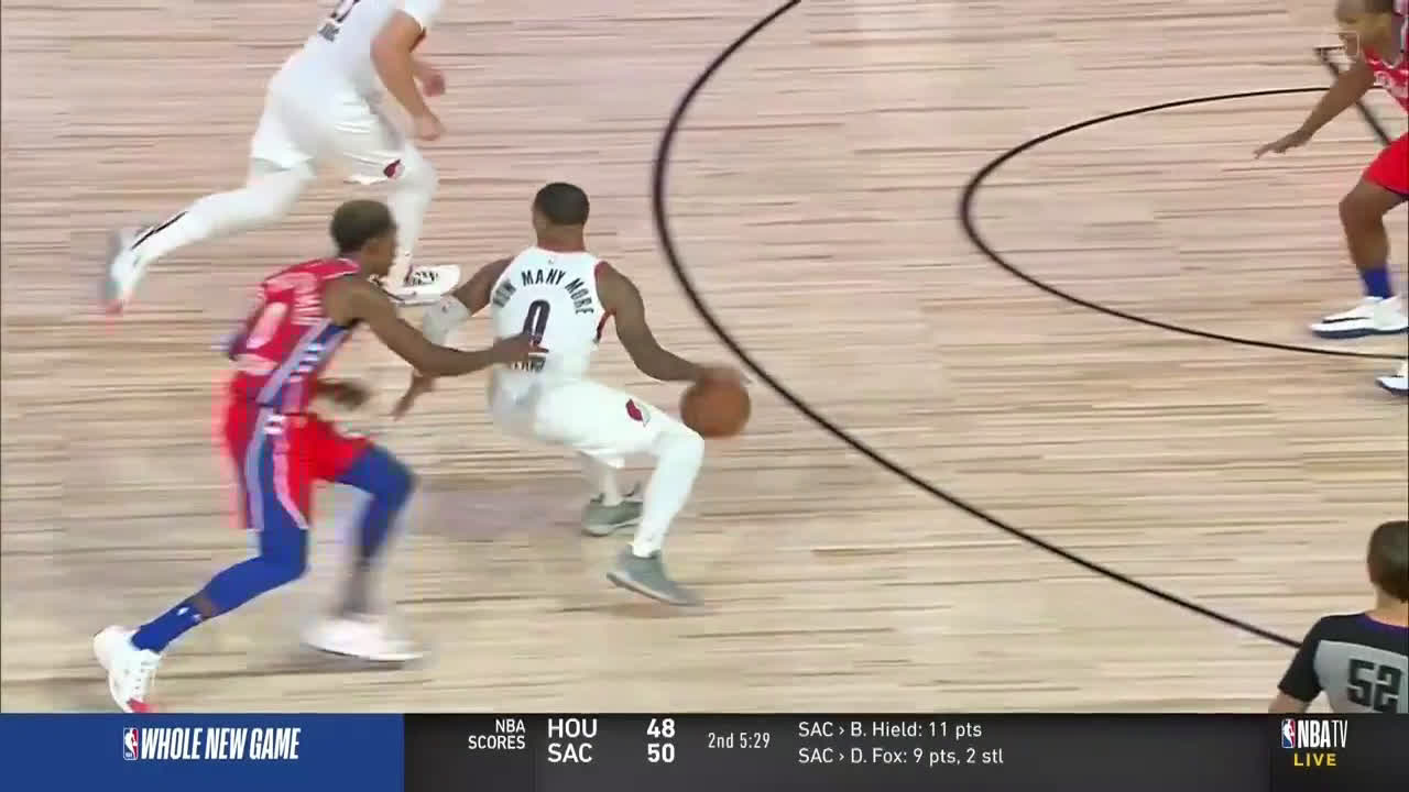 [Highlight] Dame Time Back to Back Triples (One And One) - NBA TV
