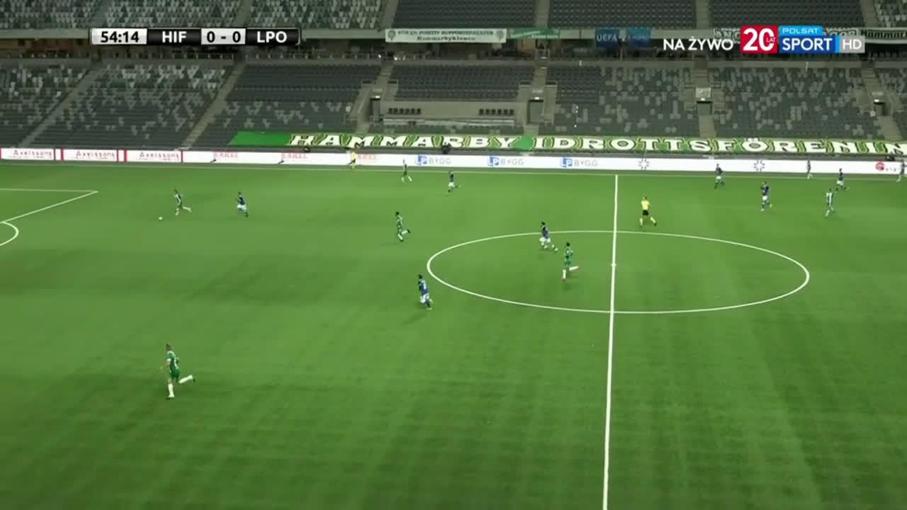 [Ekstraklasaboners] Hammarby 0-1 Lech Poznań - Pedro Tiba 55'