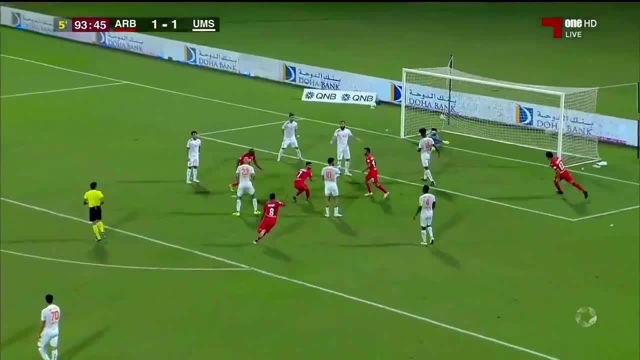Al-Arabi (2)-1 Umm Salal - Mehrdad Mohammadi nice bicycle kick goal