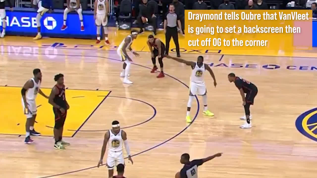 [Highlight] A coach narrating how Draymond blew up all the Raptors initial options for the last possession of the game tonight