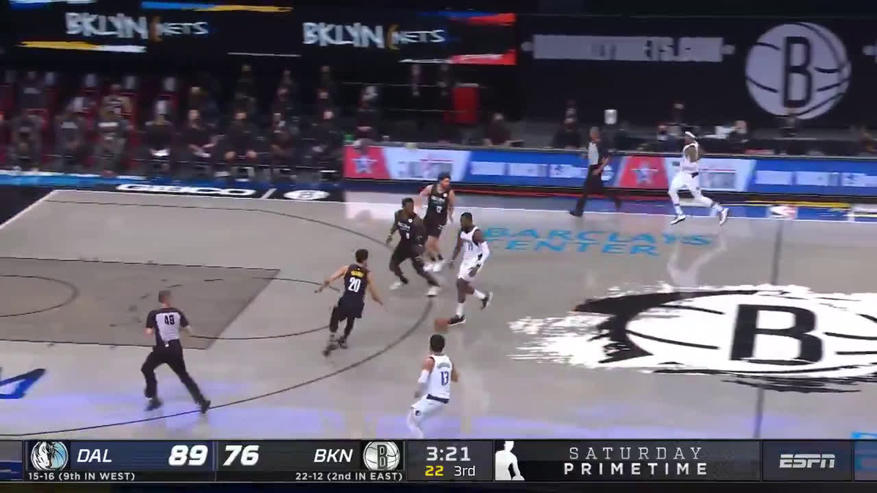 [Highlights] Finney-Smith sends Harden's shot back leading to a tough transition finish from Hardaway