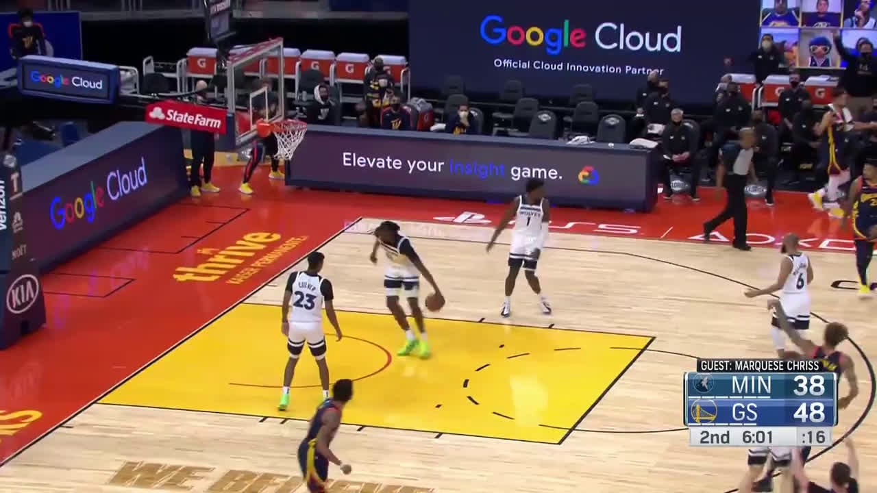[Highlight] Marquese Chriss calls the Kelly Oubre three