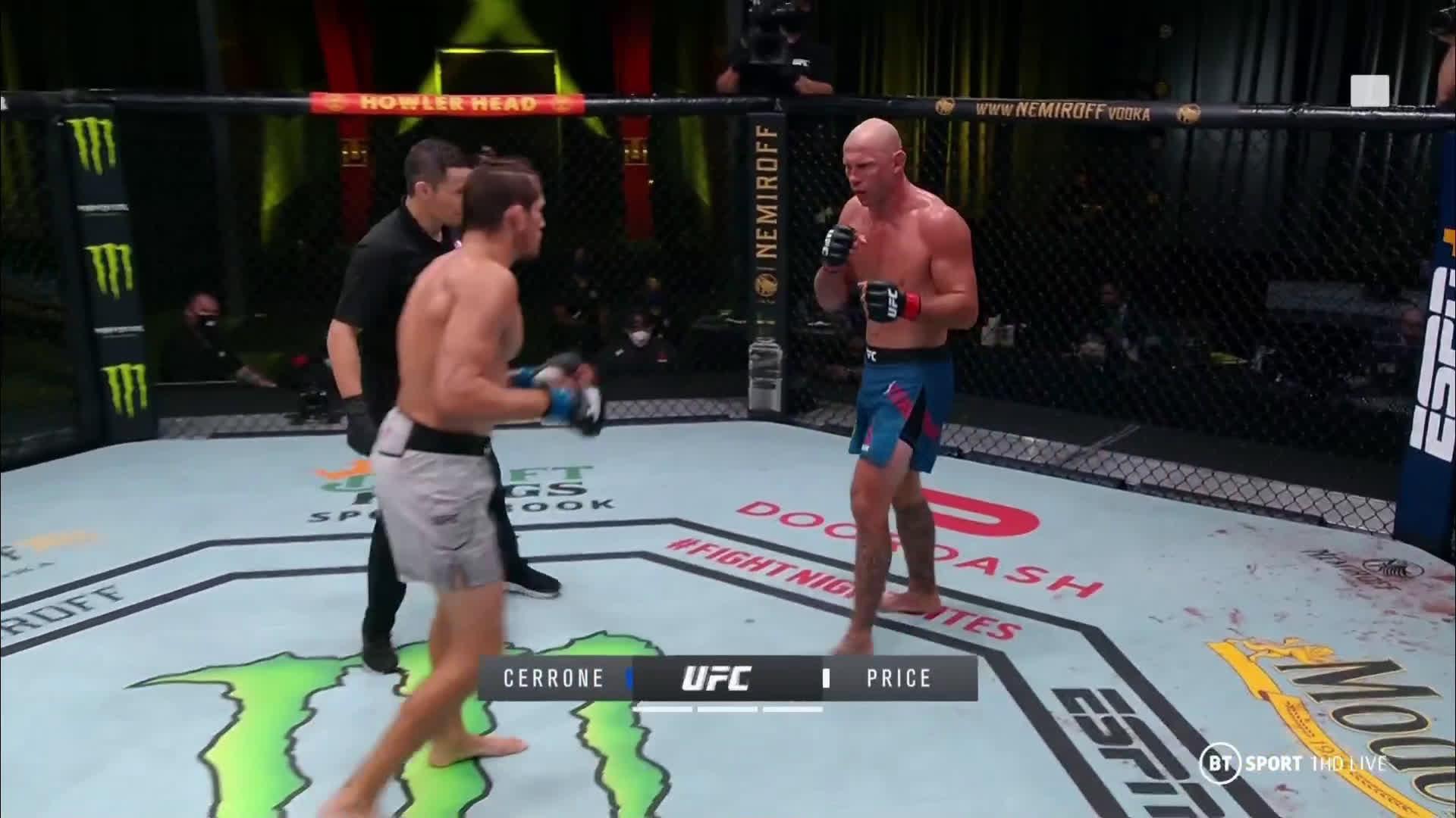 [SPOILER] Funny moment in main card fight involving Jason Herzog