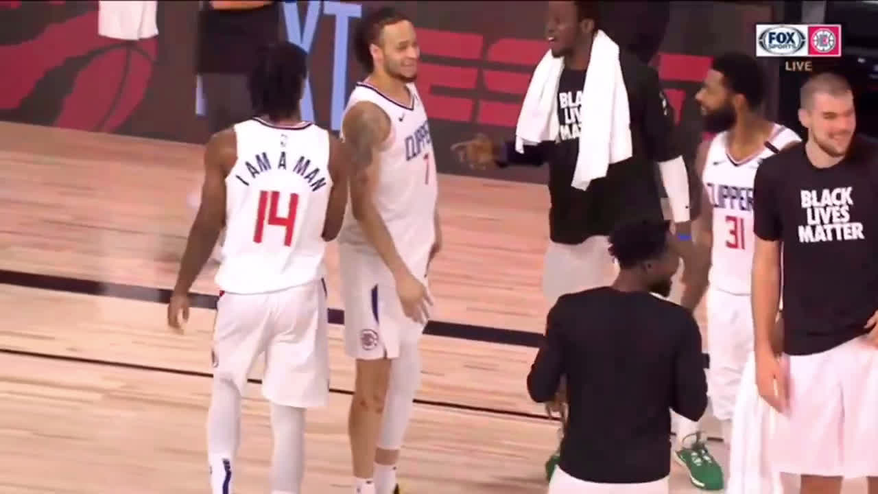 Clippers bench goes wild for the 25th three made y rookie Terance Mann, breaking the franchise record.