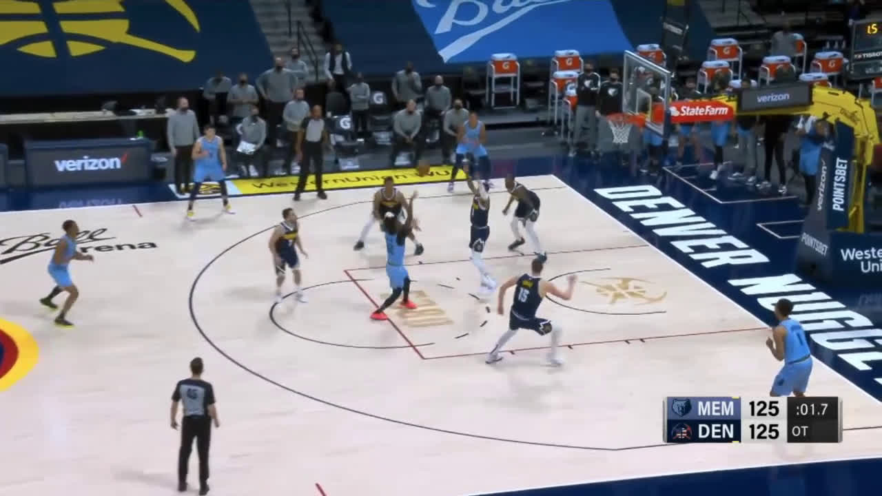 [Highlight] Morant can't win the game on a wild play, sending the game to double OT