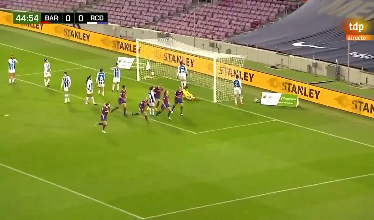 [Liga] Barça Femení [1] - 0 Español | Alexia Putellas, 45' | First ever official goal of Barça Femení in the Camp Nou