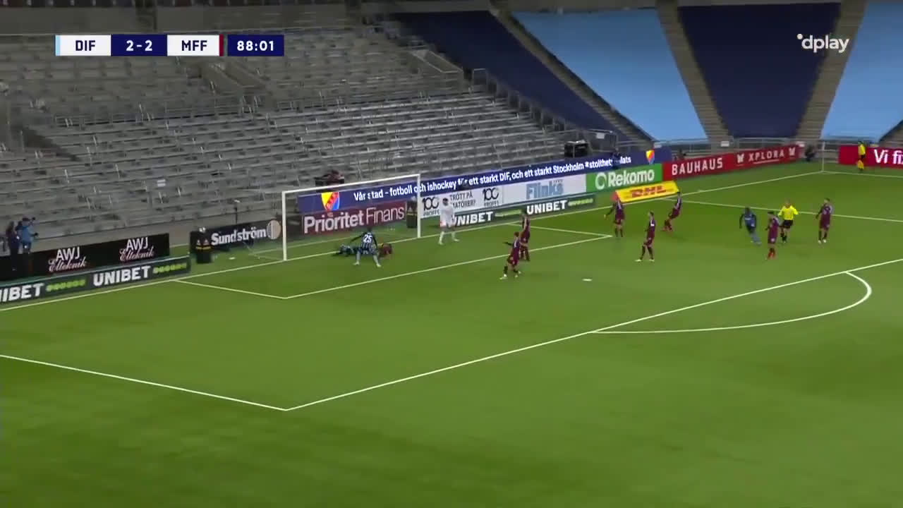 Djurgårdens IF [3]-2 Malmö FF - Kalle Holmberg 89'