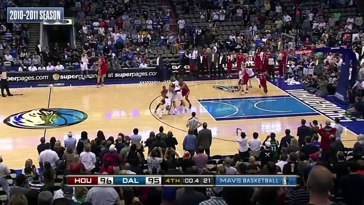 Jason Kidd finds Shawn Marion for the buzzer beater (2010)