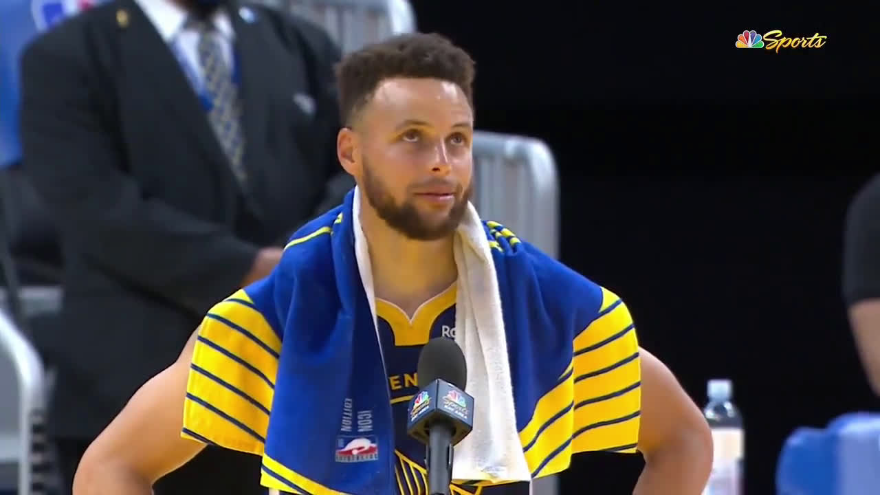 [Highlight]: Steph Curry on becoming the Warriors all time scorer: