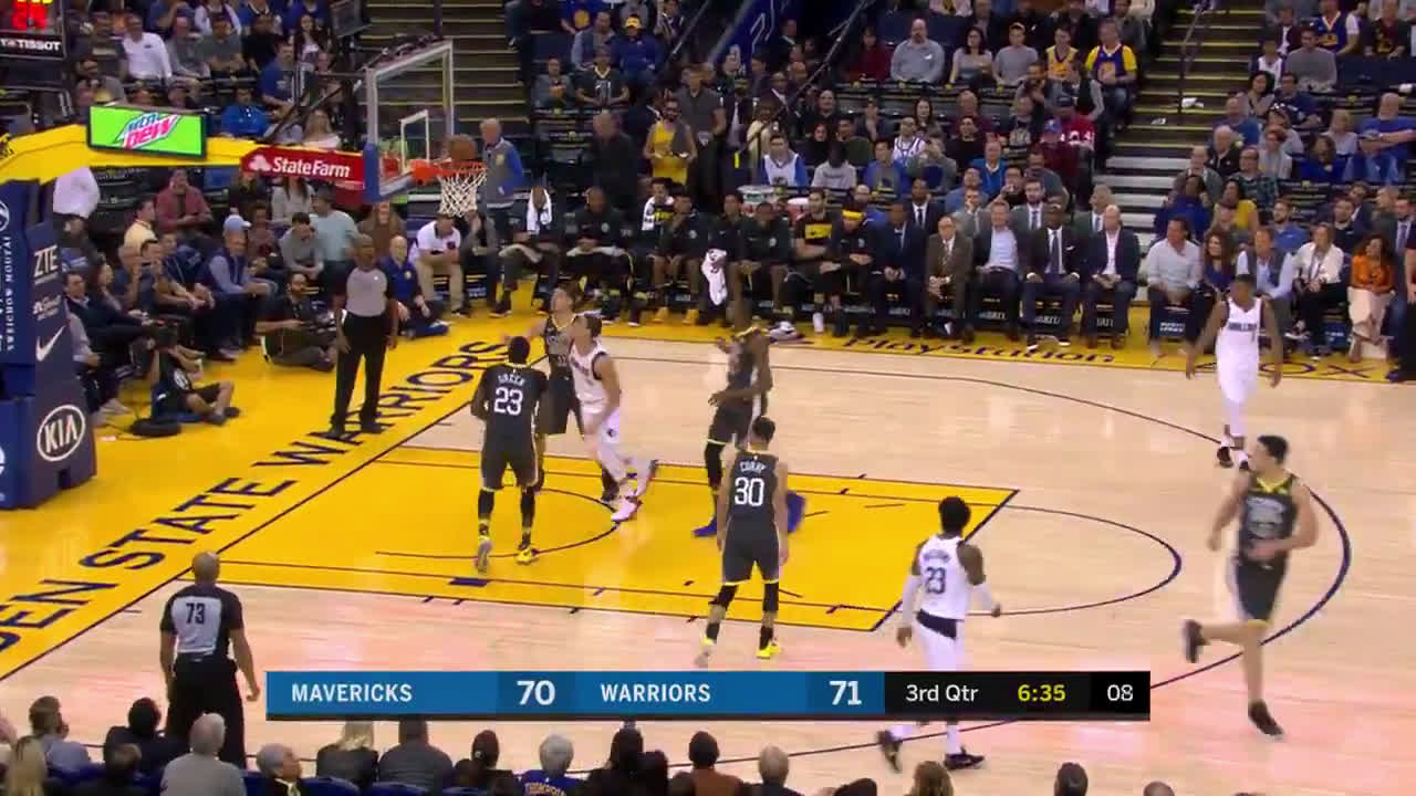 Dirk faking Draymond out of his shoes
