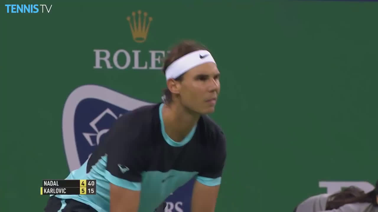 Nadal hits 3 return winners in a row to break Karlovic