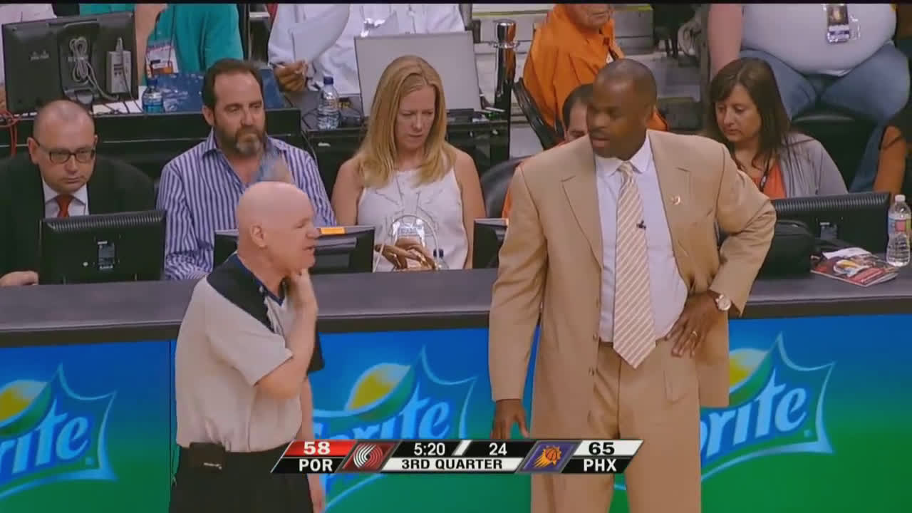 Joey Crawford blows the whistle due to Camby fouling Nash. The Problem? Camby wasn't anywhere near Nash.