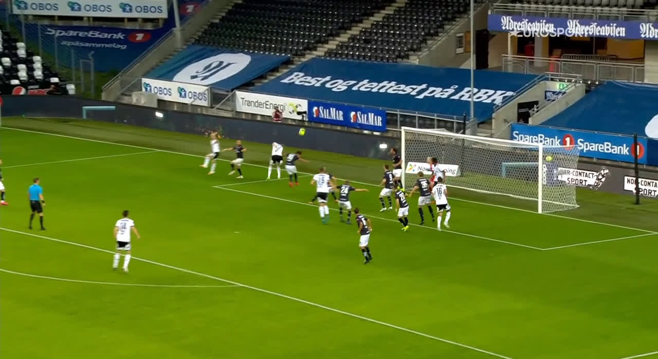 Rosenborg 2-0 Viking - Even Hovland 56'