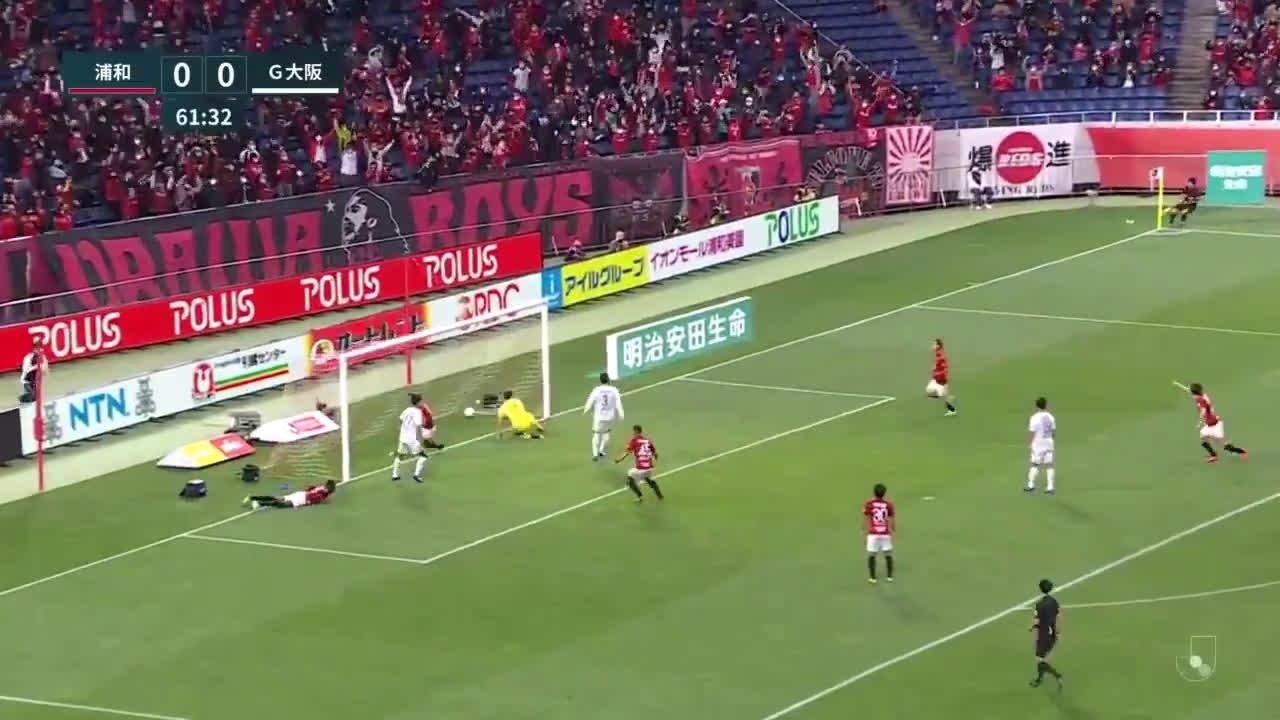 Urawa Reds (1)-0 Gamba Osaka - Tomoaki Makino goal (nice set piece goal)