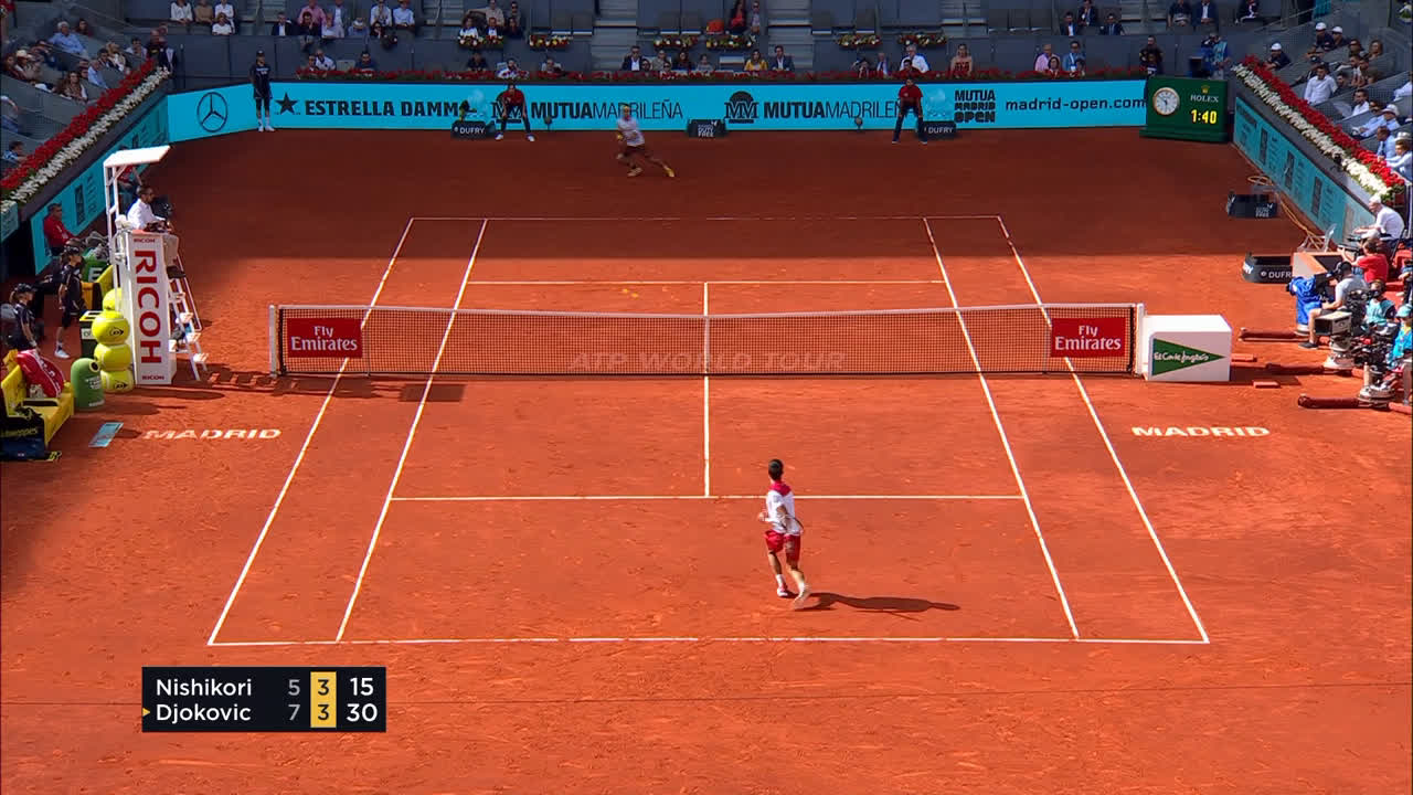 Djokovic's team are trying to remove this Djokosmash from the Internet. Let's watch it again.