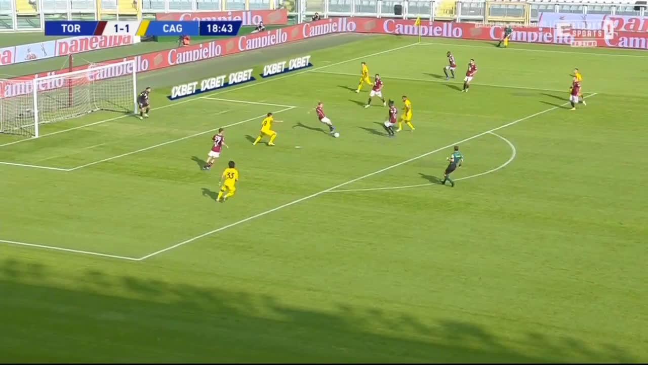 Torino 1-[2] Cagliari - Giovanni Simeone 19'