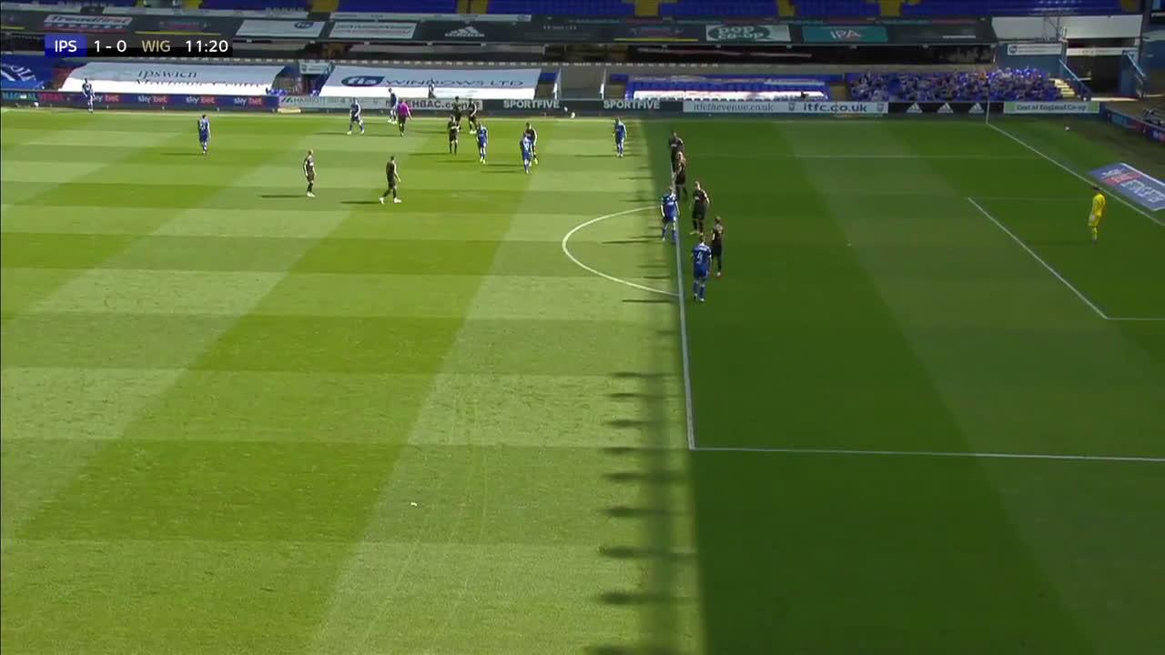 Ipswich Town [1] - 0 Wigan Athletic - Bishop 11'