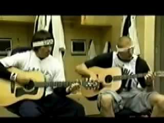 Young Steve Nash and Dirk playing guitar together.