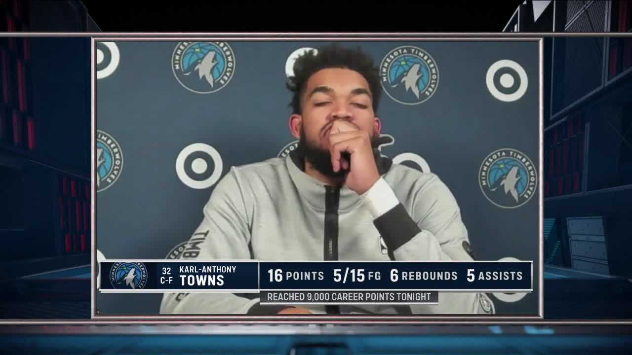 [Bally Sports North] KAT shows frustration after Wolves' bad loss to Clippers.