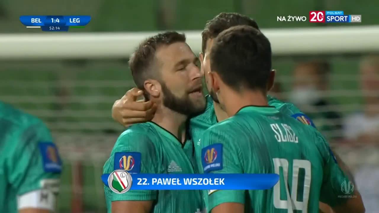 GKS Bełchatów 1-[4] Legia Warszawa - Paweł Wszołek 53' (Polish Cup)