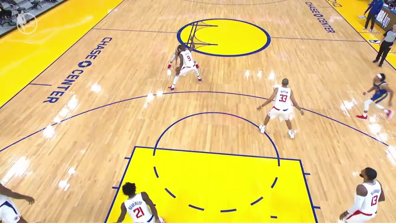 [Highlight] Alternate angle to Curry's sick reverse layup