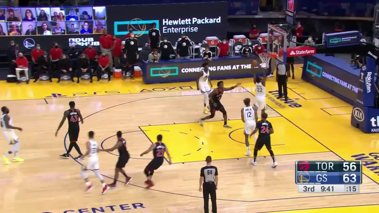[Highlight] Wiggins and Oubre left wide open in the paint