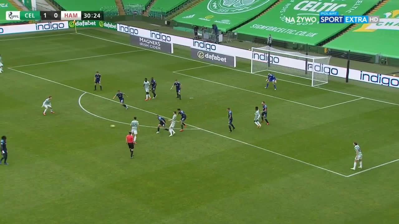 Celtic 2-0 Hamilton - Jeremie Frimpong 31'