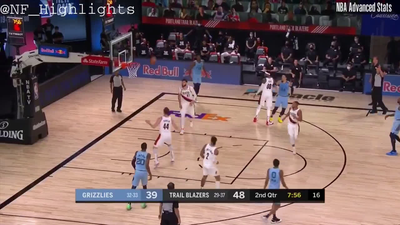 [Highlight] Dillon Brooks attempts a contested three point floater early in the shot clock