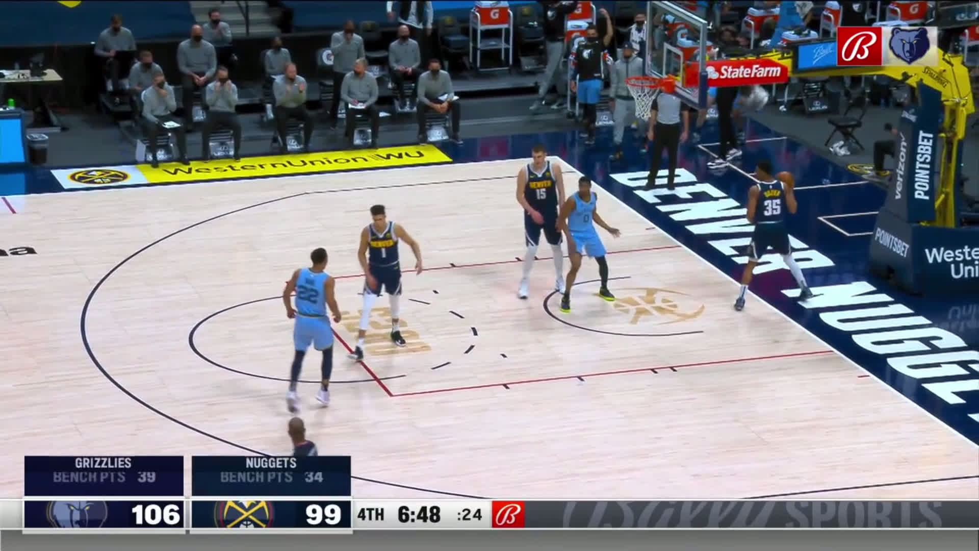 [Highlight] De'Anthony Melton drives through the lane and yams it in near Porter Jr