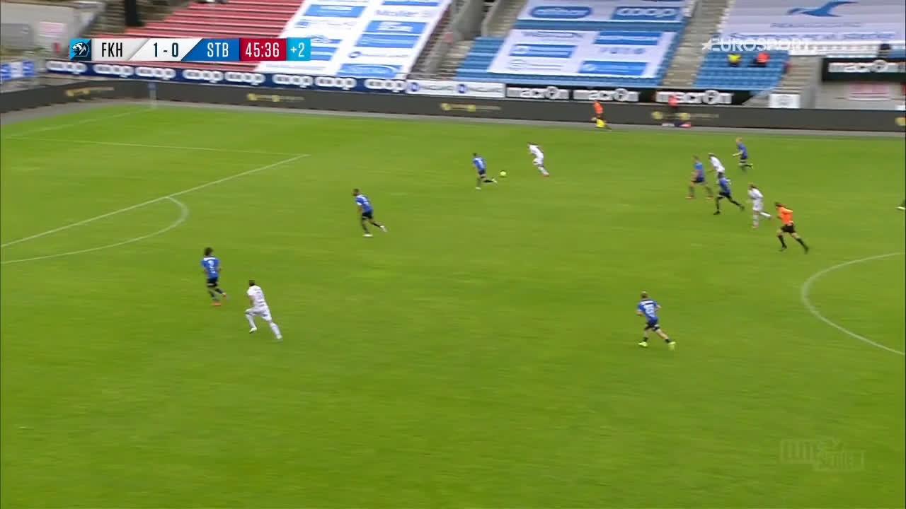 Haugesund 2-0 Stabæk - Kristoffer Velde 45+1'