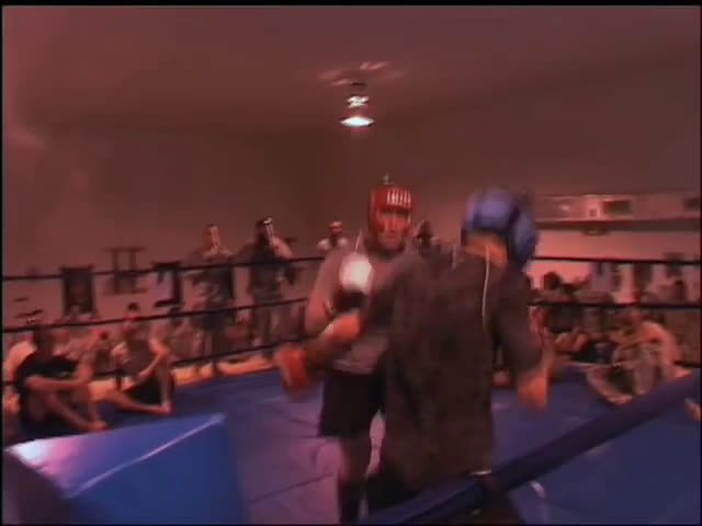 Carlos Condit sparring a US soldier while in Afghanistan. When asked how hard to go, he says