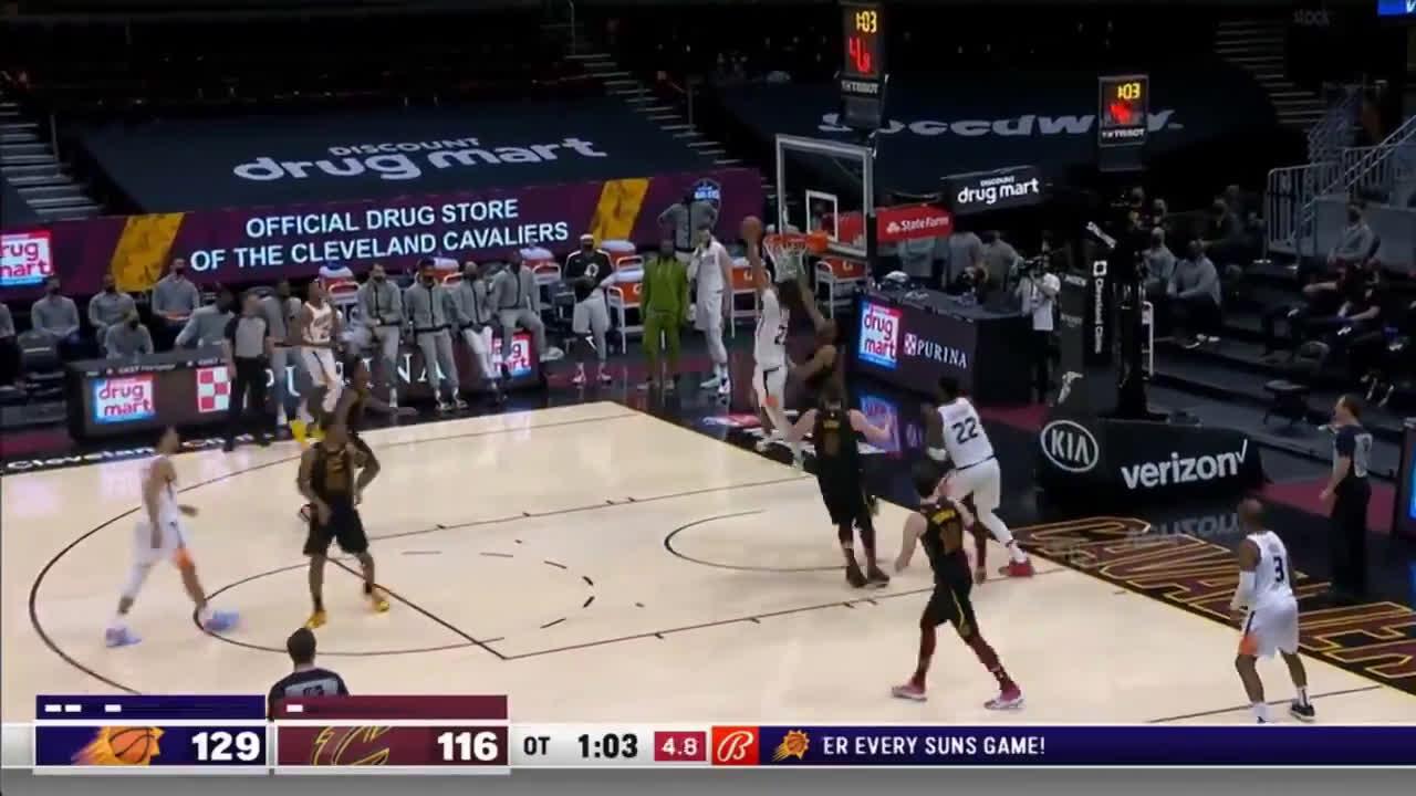 [Highlight] Cam Johnson with a reverse throwdown on Jarrett Allen