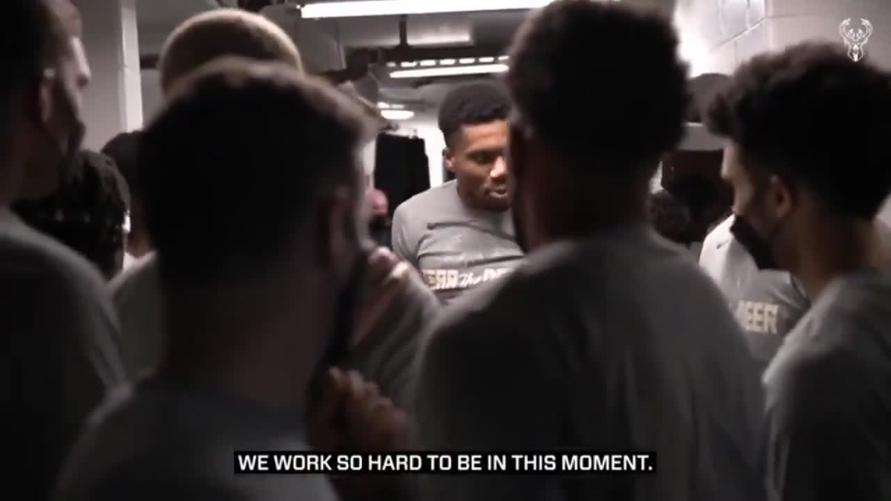 [Video] Giannis leading the pre-game huddle before Game 7 vs the Nets