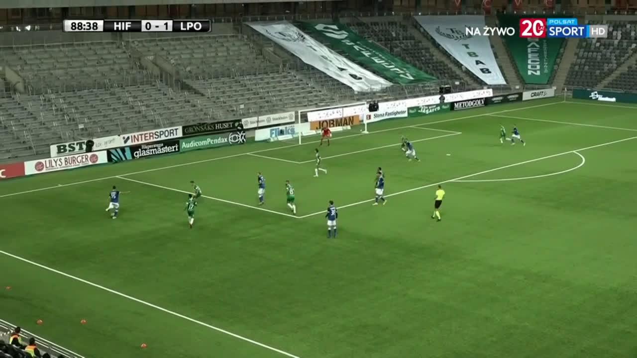Hammarby 0-2 Lech Poznań - Jakub Kamiński 89'