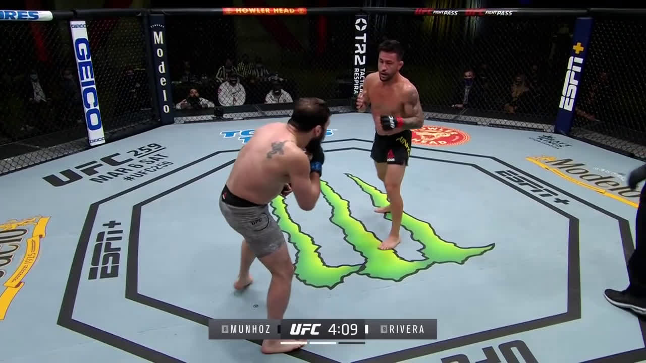 Jimmie Rivera and Pedro Munhoz going at it to produce a Fight of the Night performance