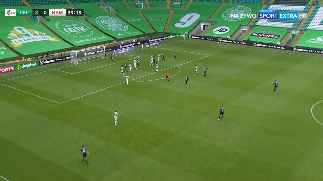 Celtic 2-[1] Hamilton - Christopher Jullien OG 34'