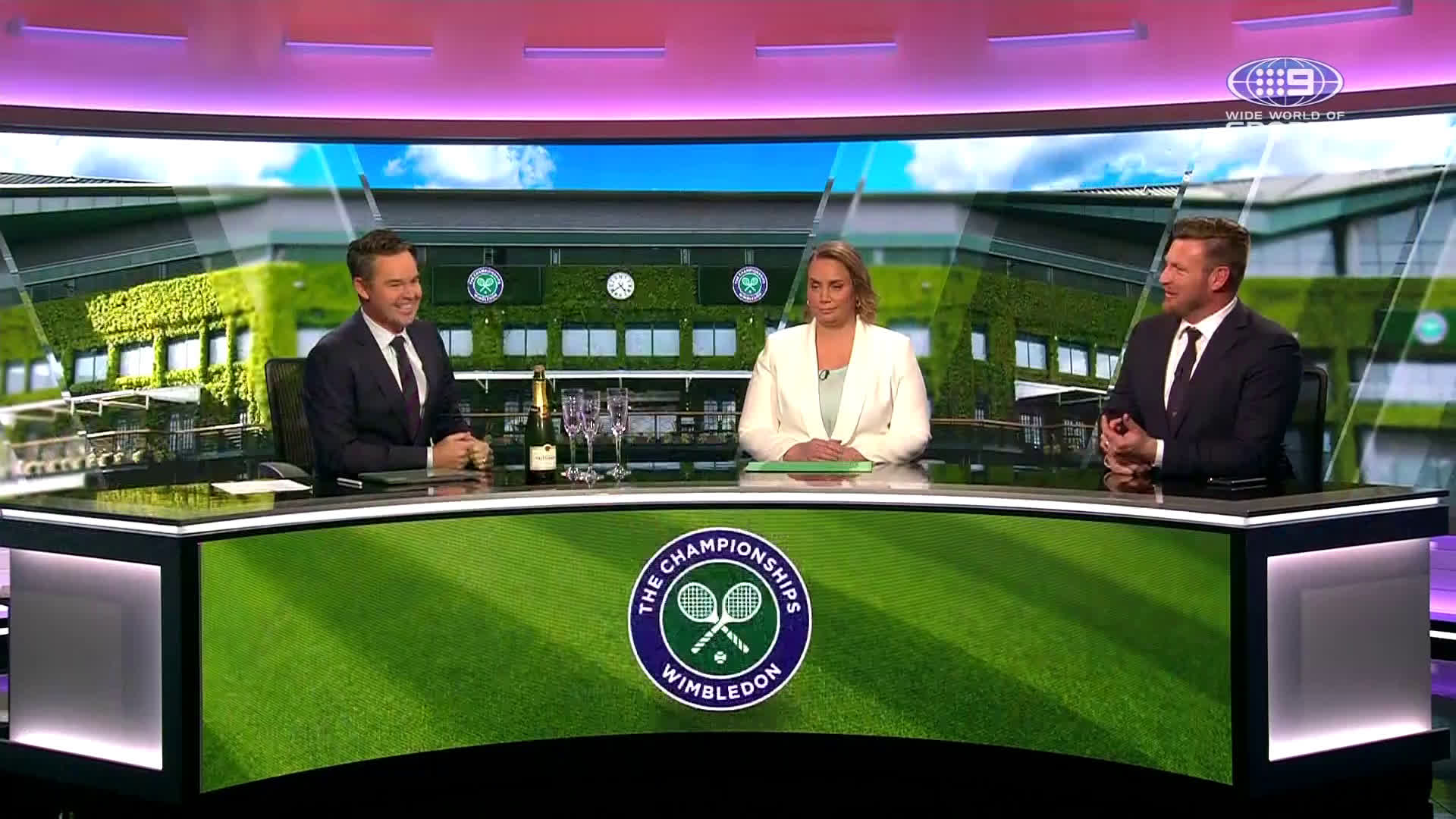 This is how Australian's celebrate our Wimbledon Champions on live TV