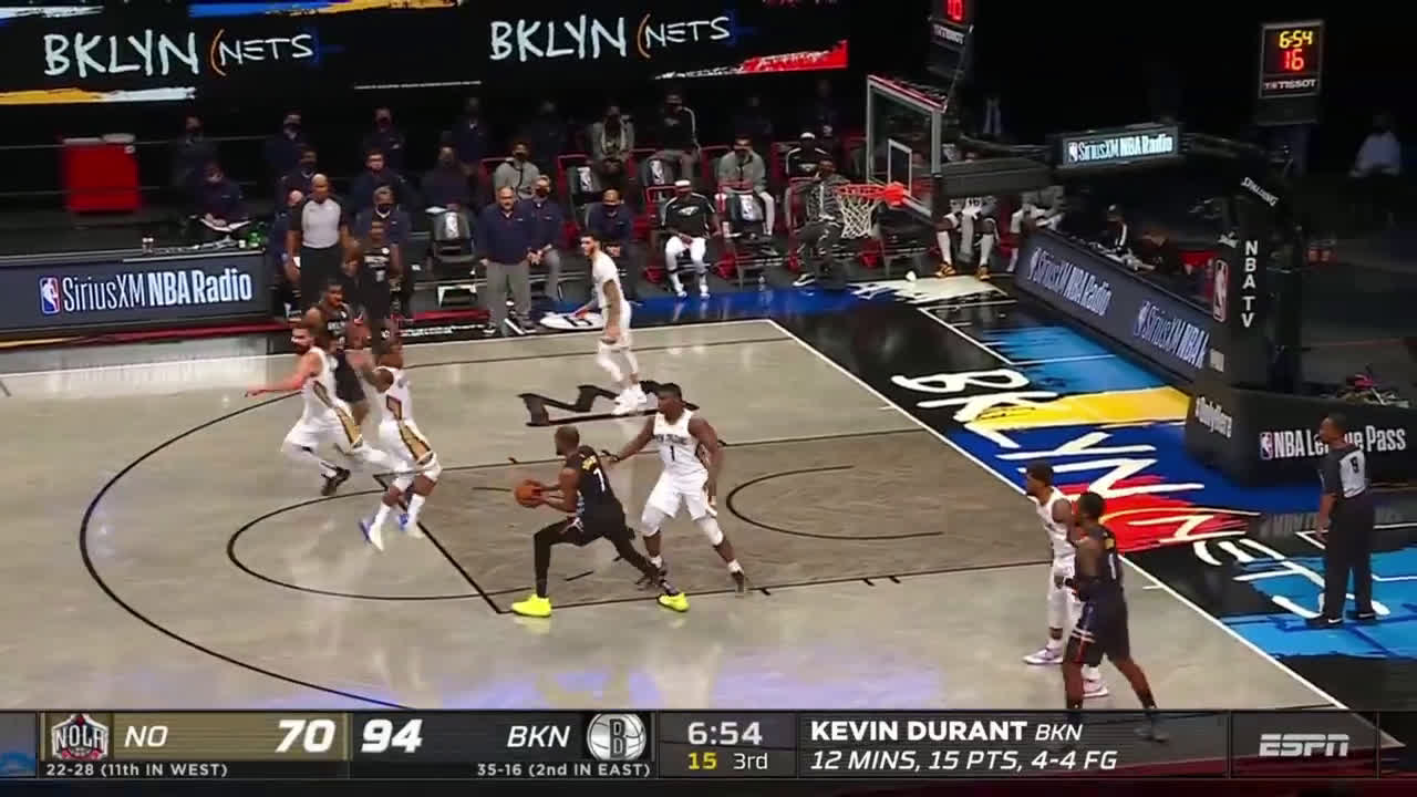 [Highlight] KD dropped a no-look dime to his good friend LMA